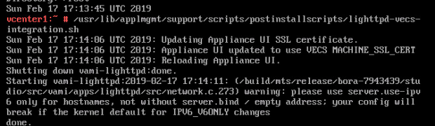 Update vCenter VAMI 5480 SSL Certificate